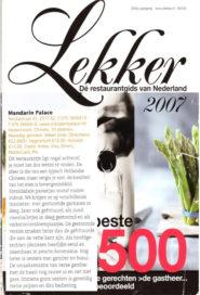 Ranglijst Lekker 2007