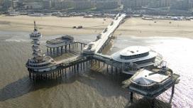 Pier in Scheveningen op slot