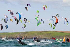 Hotel voor kitesurfers op Strand Horst