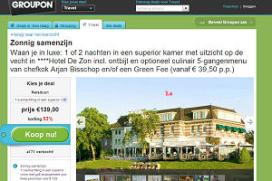 Vijftiende QL hotel in zee met Groupon