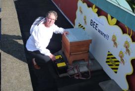 Bijenkolonie op dak van Palace Hotel in Noordwijk