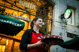 Nieuwe Starbucks op Damrak Amsterdam