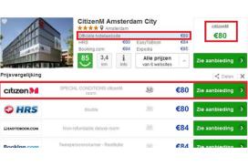 Trivago geeft kamerprijzen eigen hotelsites meer ruimte