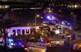 Politieheli stort op kroeg Glasgow