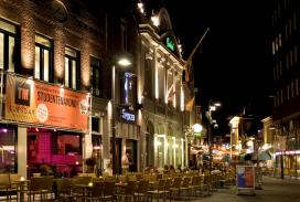 Proef met licht in Stratumseind in Eindhoven