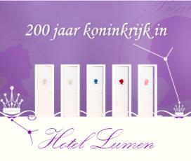Vijf koninklijke kamers voor Hotel Lumen
