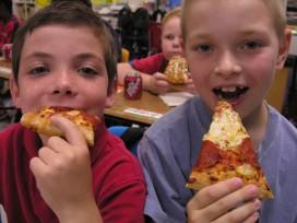 Gezonde pizza op scholen
