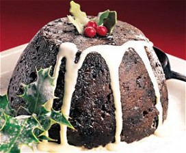 Britse Christmas Pudding in zwaar weer