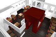 Restaurant Blauw rolt concept uit