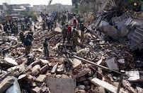 Acht doden na instorten Indiaas hotel