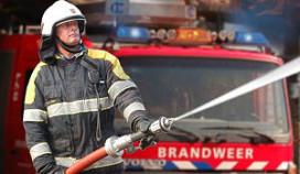 Brand in barbecuerestaurant