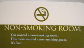 Gasten blijven roken op hotelkamer