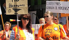 Actie schoonmakers bij Center Parcs
