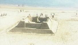 Engeland heeft eerste zandhotel ter wereld
