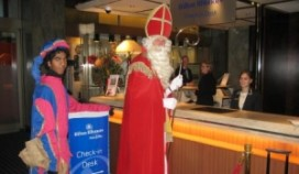 Sinterklaas checkt in bij Hilton Rotterdam