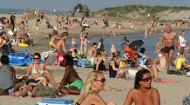 Topdrukte voor strandtenthouders