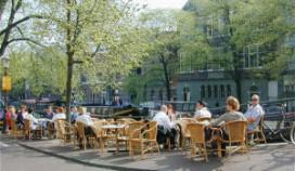 Protest tegen horecabetutteling in Amsterdam