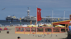 Draadloos internet op strand Scheveningen