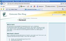 Vergunningen Haagse horeca digitaal