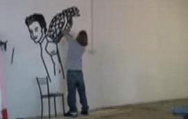 Tapekunstenaar promoot Duvel op Leidseplein