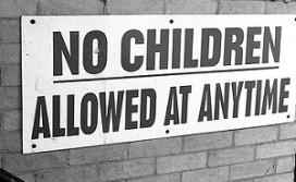 Site voor restaurants met kinderverbod