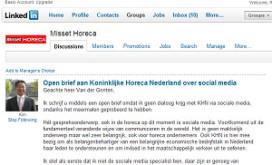 Kritiek op KHN over social media