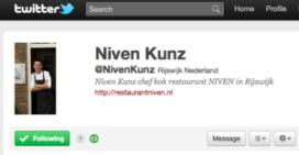 Niven Kunz twittert binnen twee uur kookstudio vol