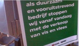 VPRO medewerkers protesteren tegen vegetarisch