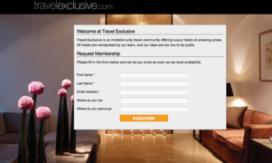 Vliegende start voor ledensite Travelexclusive.com