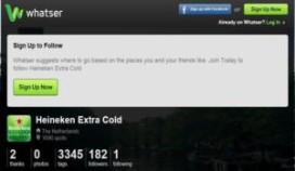 Heineken Extra Cold te vinden via app Whatser