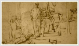 Tekening Rembrandt gestolen uit hotel