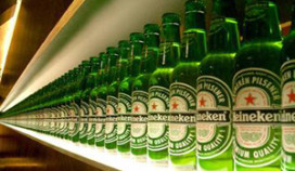 Halfjaarwinst Heineken lager dan voorspeld
