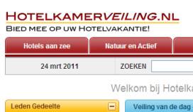 Hotelkamerveiling.nl zestig procent goedkoper dan hotel zelf