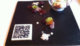 Bloemenbeek serveert dessert met eetbare QR-code
