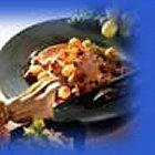 Kalkoen met spek en champignons