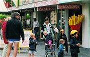 Frites, snacks en ijs voor toeristen en dagjesmensen