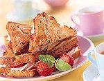 Suikerbrood-sandwiches met kaneelroom