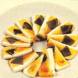 Driekleurige eiterrine (Chinees, met zwarte eieren)