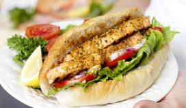 Groene sandwiches en goede kosten