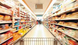 Supermarkten betreden pad partycateraars