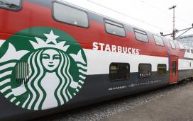 Eerste Starbucks in de trein
