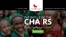 Topkoks promoten zelfontworpen stoelen voor Chairs4Chairity