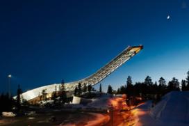 Slapen op Olympische skischans via Airbnb