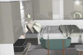 Van der Valk: ontwerp glazen hotelkamer