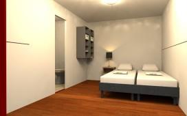 Inklapbare hotelkamer krijgt ook sanitair
