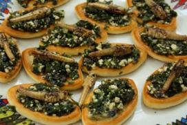 Foto's: insecten eten in pop up-restaurant Rentokil