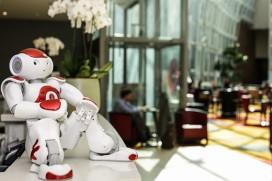 Robot aan de balie in Belgisch hotel