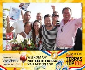 Veel aandacht en feest voor bedrijven Terras Top 100 2015