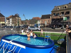 Restaurant biedt gasten verkoeling met zwembad in centrum Zwolle