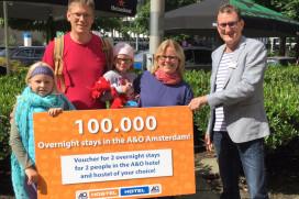 A&O Amsterdam haalt 100.000 overnachtingen in drie maanden
